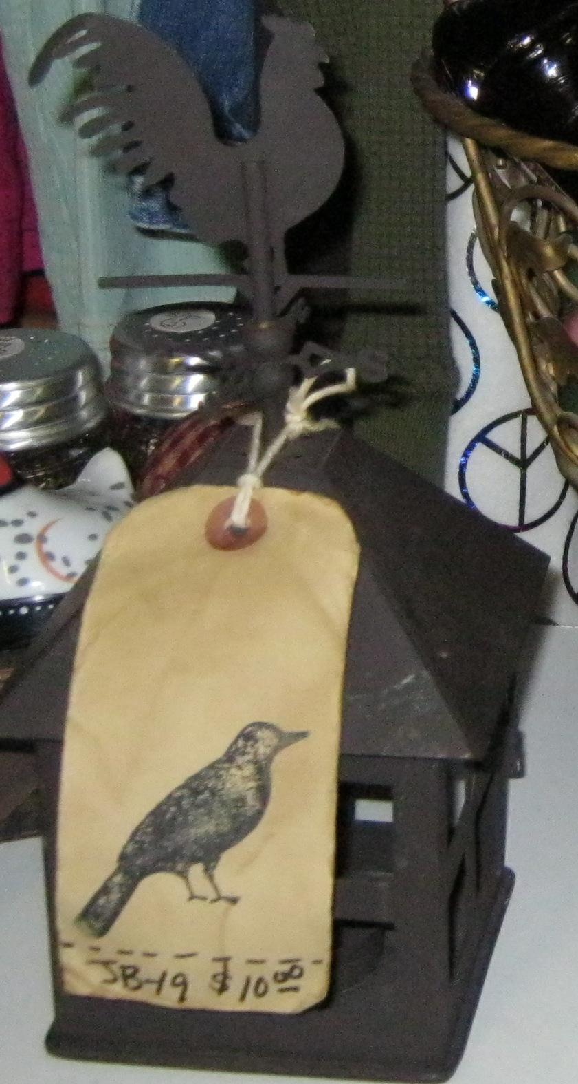 JB-19 Tin Rooster Tea Light
