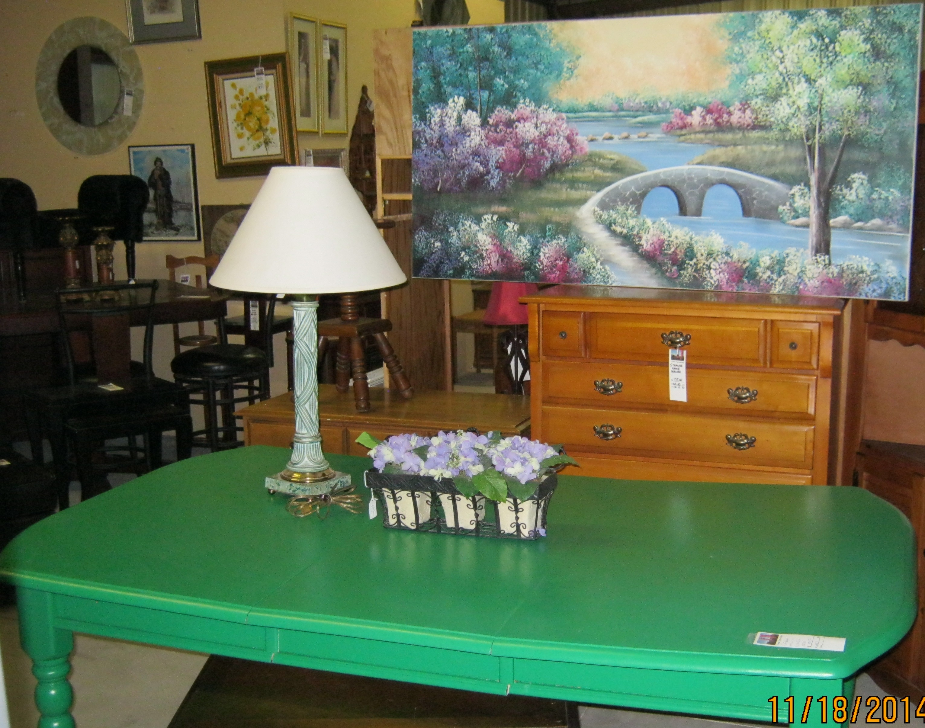 MR-63 Green Table PW-43 Painting