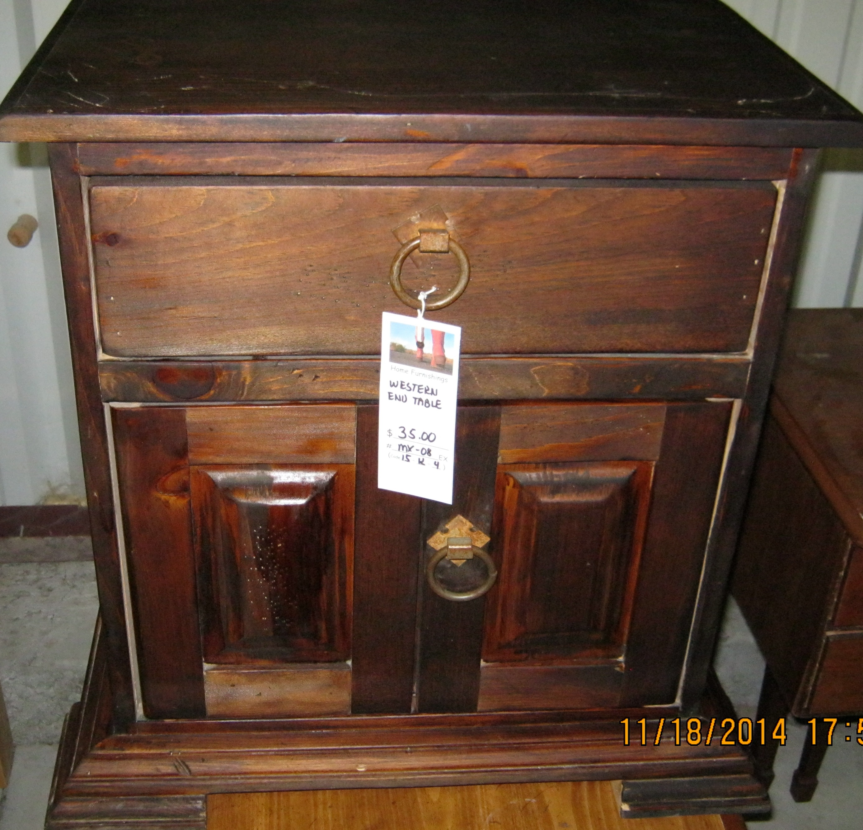 MX-08 Western Style End Table