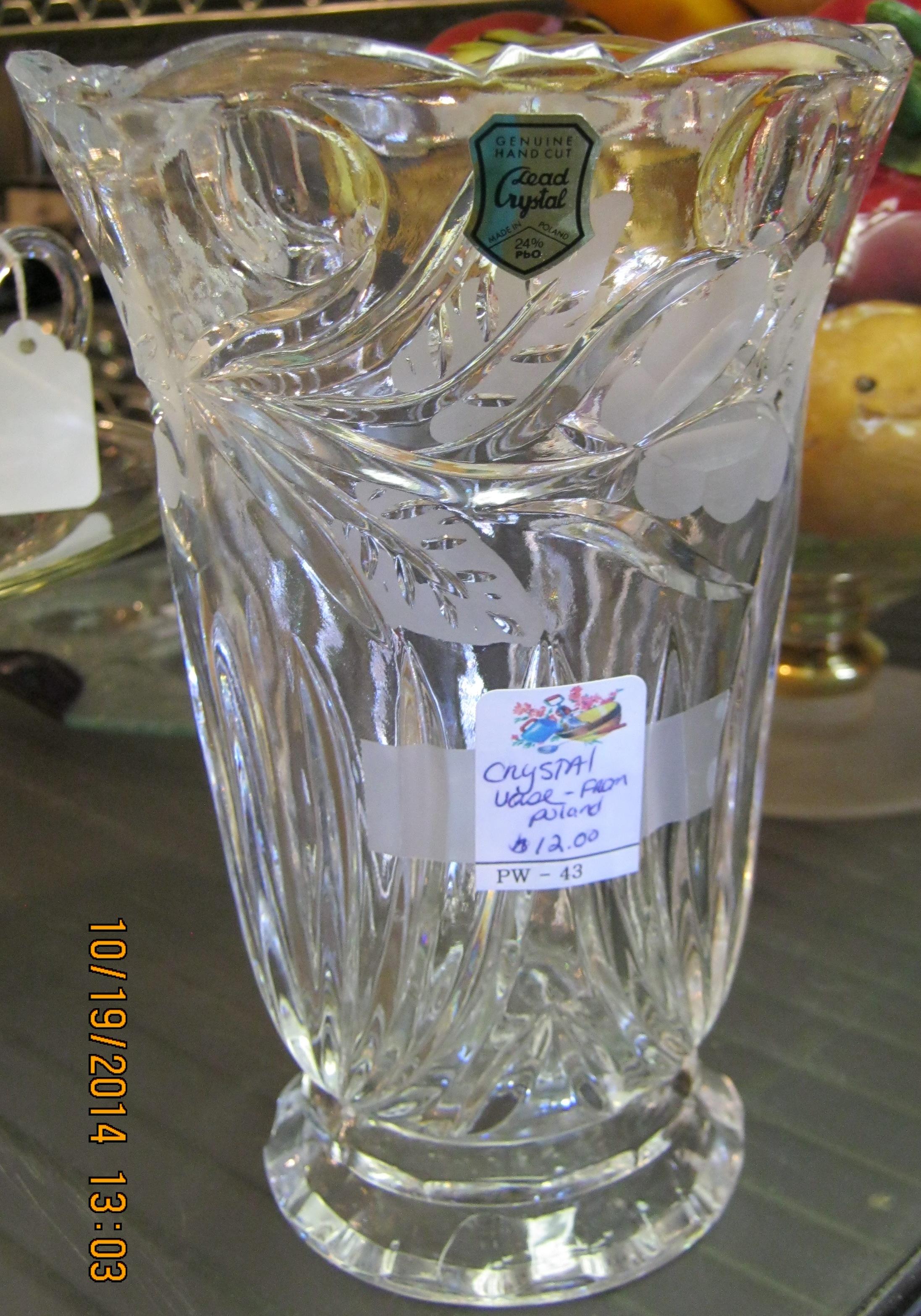 PW-43 Crystal Vase