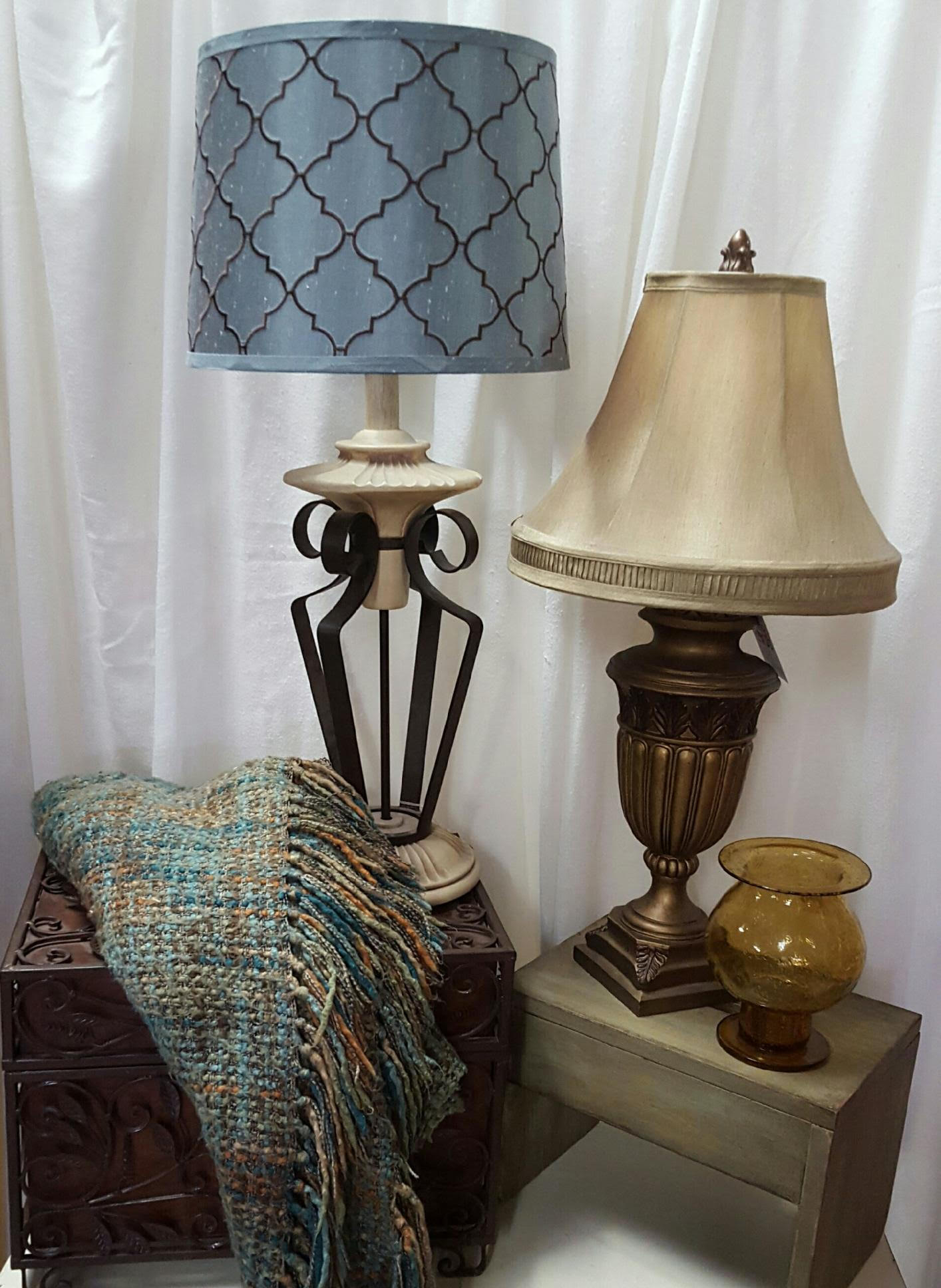 Lamps & throw